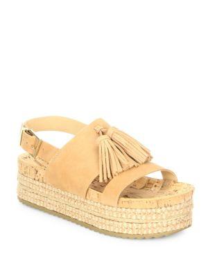 Monica Suede Platform Espadrille Sandals