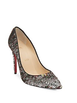 Christian Louboutin - Pigalle Follies 100 Sequin Point Toe Pumps