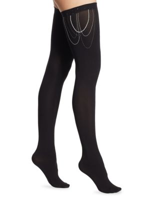 Jewelled Stay-Up Tights