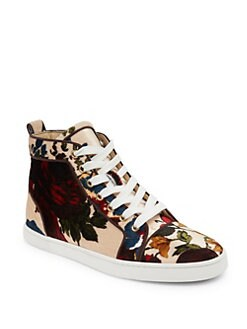 Christian Louboutin - Classique Bip Bip Orlato Floral High-Top Sneakers