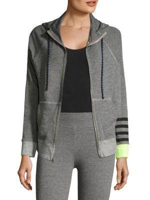 Heathered Zip-Front Sweatshirt by SUNDRY
