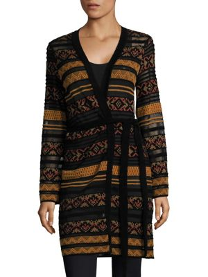 Long Tie Fairisle Cardigan