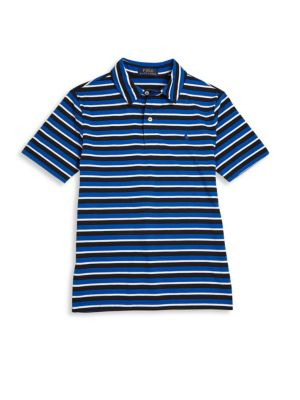 Toddlers, Little Boys and Boys Striped Cotton-Jersey Polo