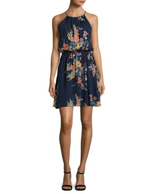 Makana E Floral-Printed Silk Dress