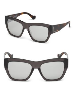 Marcolin 56MM Mirrored Square Sunglasses