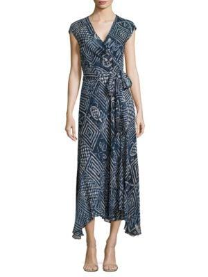Silk Gauze Wrap Dress