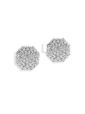 Hero Diamond & 14K White Gold Stud Earrings