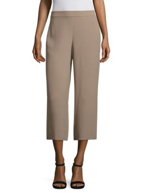 Silk Georgette Wide Cropped Pants