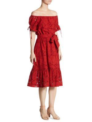 Hib Off-the-Shoulder Lace Sylvie Dress