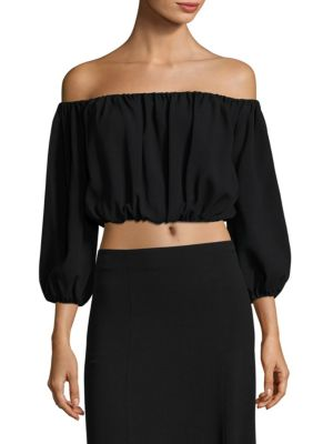 Waleska Rosina Off-The-Shoulder Cropped Top by Theory