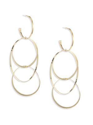 Bond 14K Yellow Gold Large Flat Hoop Earrings