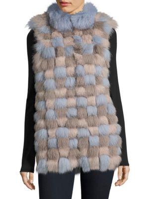 THE FUR SALON Julia and Stella Popcorn Fox Fur Vest