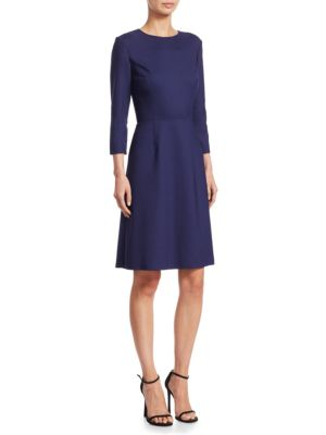 Three Quarter Sleeve Wool Dress