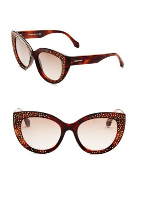 54MM Crystal-Embellished Cat Eye Sunglasses
