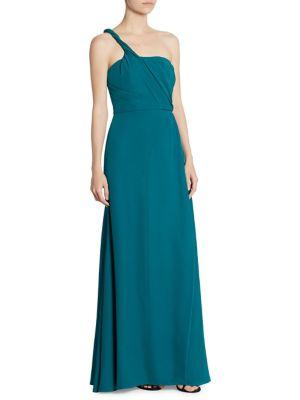 One-Shoulder Silk Gown