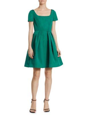 Silk Faille Fit-&-Flare Dress