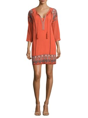 Nieva Embroidered Tassel Dress