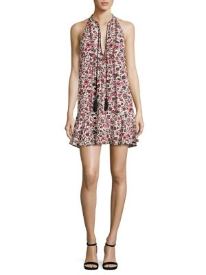 Hadley Floral-Print Silk Dress