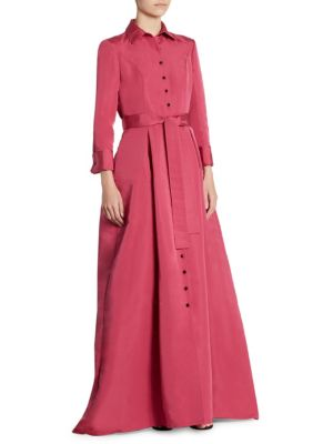 Silk Trench Gown