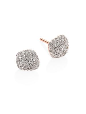 Nura Diamond Nugget Stud Earrings