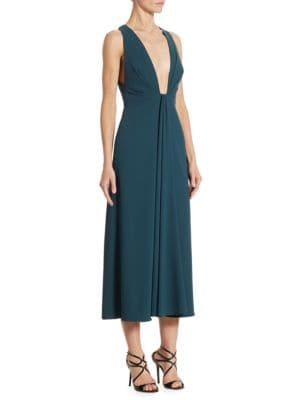Plunging V-neck Cocktail Dress