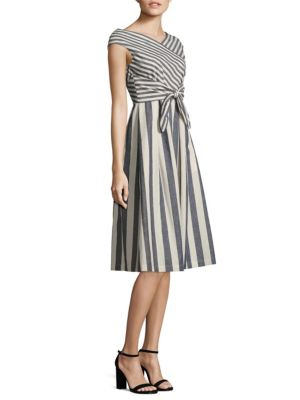 Ximena Striped Tie-Front Dress