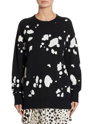 Dalmatian Print Cotton Sweater