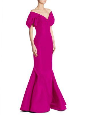 Silk V-Neck Gown