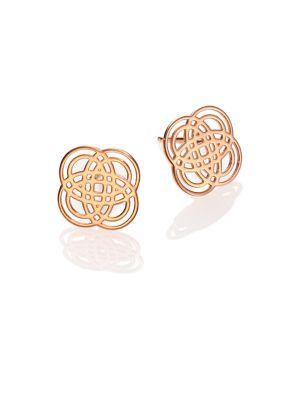 Purity Gold 18K Rose Gold Stud Earrings