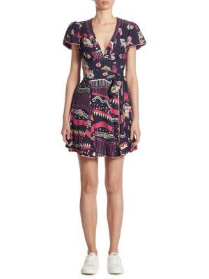 Floral-Print Tie Dress