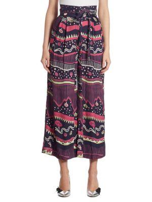 Floral-Print Wide Pants