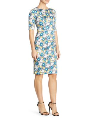 Daisy Printed Sheath Dress