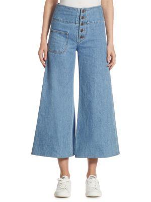 marc jacobs female retro wide leg jeans