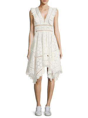 Divinity Wheel Day Eyelet Dress