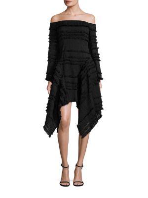 Empire Freya Off-The-Shoulder Fringe Dress
