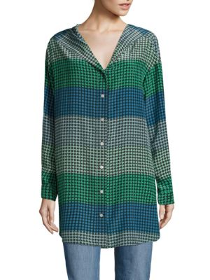 Silk Foulard Hooded Shirt by Opening Ceremony
