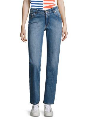 Dip Straight-Leg Jeans