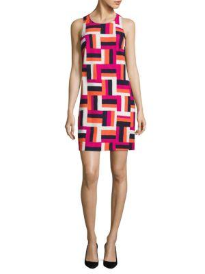 Cosme Geometric-Print Shift Dress