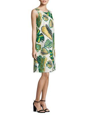 Palmer Palm-Print Shift Dress