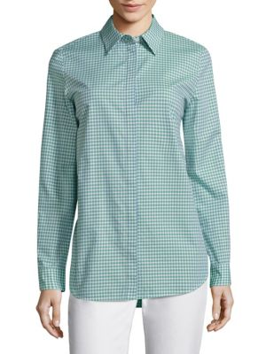 Brody Gingham Cotton Blouse