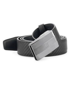 Woven Pattern Leather Belt
