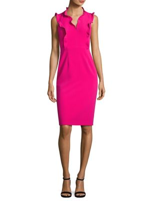 Brindy Ruffled Sheath Dress