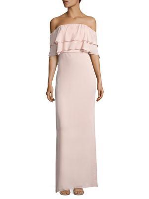 Helen Off-the-Shoulder Silk Gown