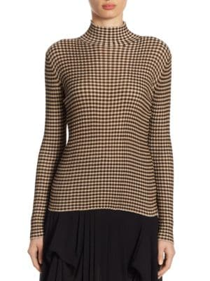 Silk Mockneck Pullover by Akris
