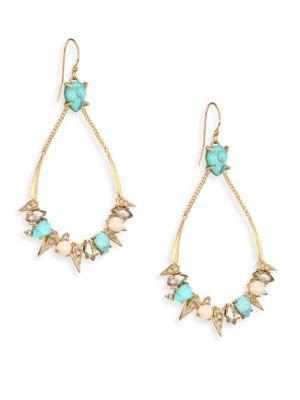 Elements Pavé Spike Crystal Drop Earrings