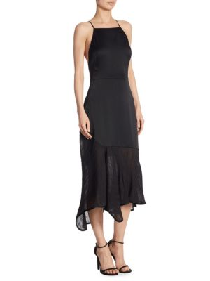 Buy Jason Wu Crepe Back Plisse-Detail Satin Dress online with Australia wide shipping