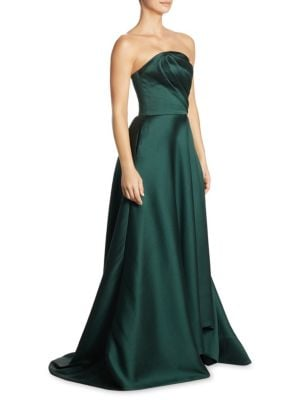 Silk Strapless Gown