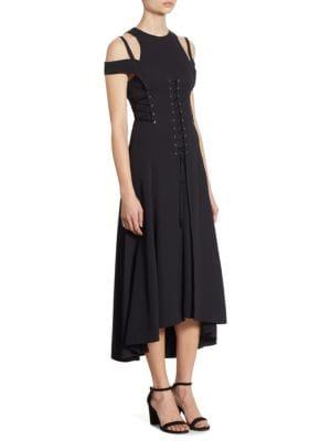 Stretch Lace-Up Dress