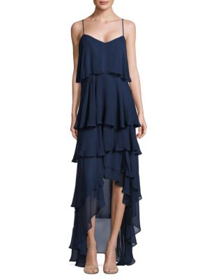 Francine Tiered Ruffled Silk Gown