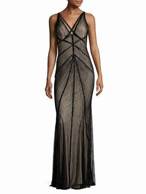 Lucy Embellished V-Back Gown